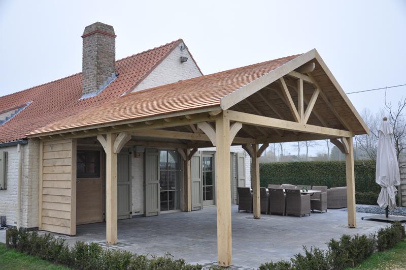 Hcg ltd realisaties houtskeletbouw houten bijhuizen overdekt terras - Foto sluit een overdekt terras ...
